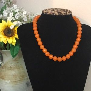 Jewelry - Orange Adventurine Bead Strand Or Necklace